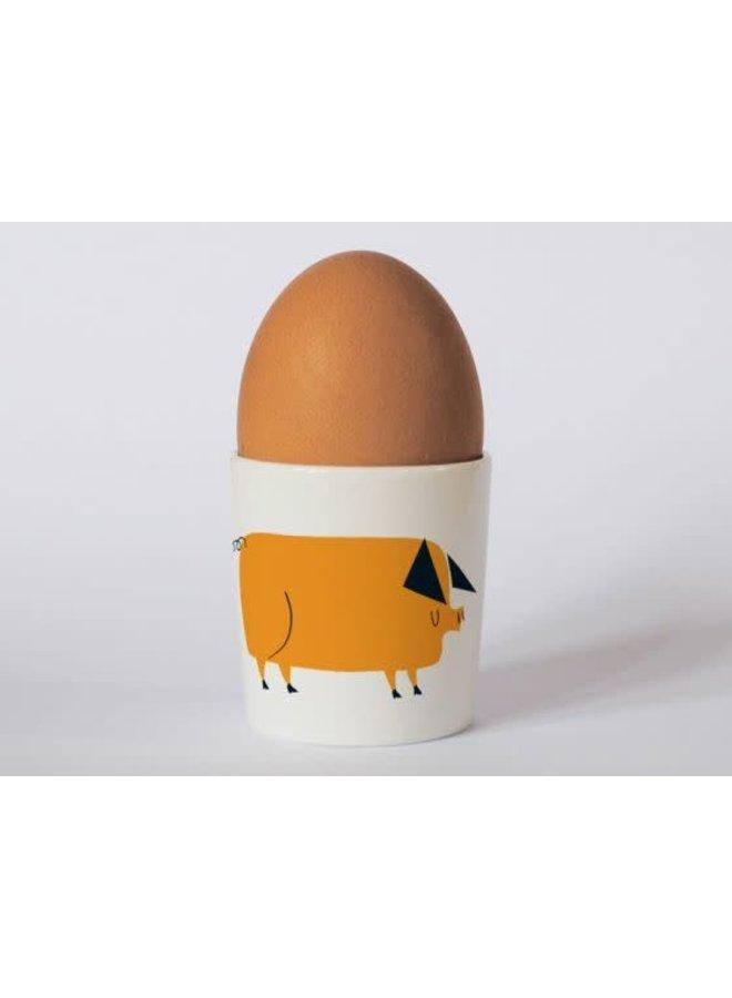 Countryside Pig Orange  eggcup 187