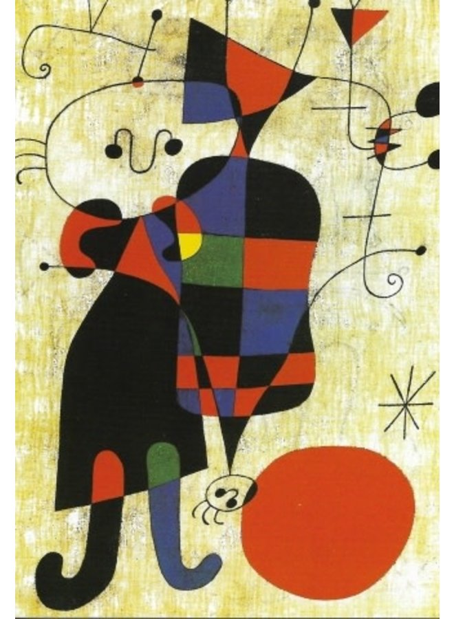 Dog in Front of the Sun by Miro Artists Postcard