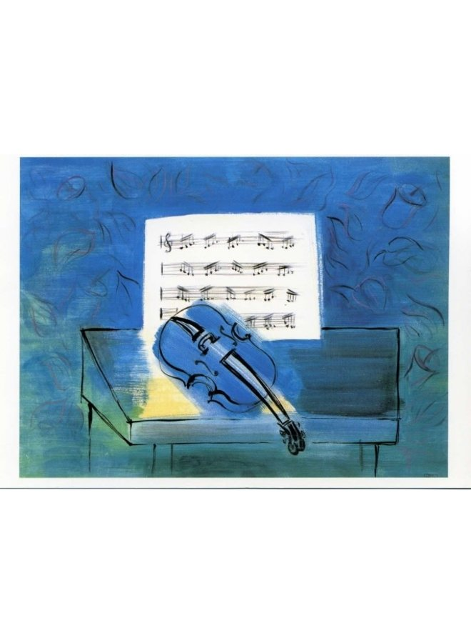 The Blue Violin by Dufy  Artists Postcard