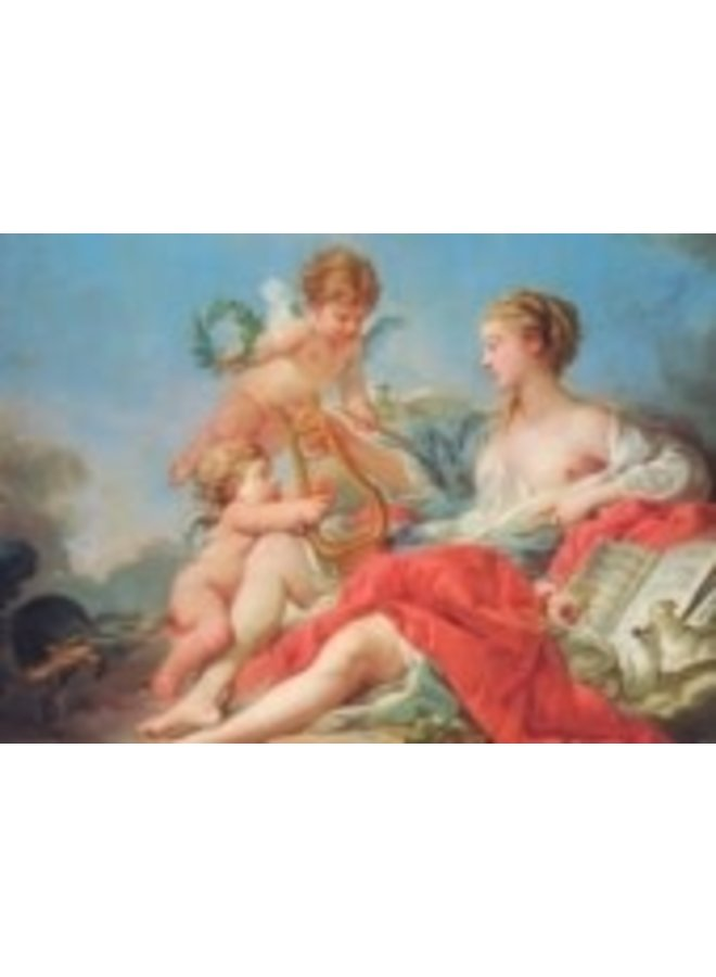 Allegory of Music by Boucher 180x 140mm Art Card