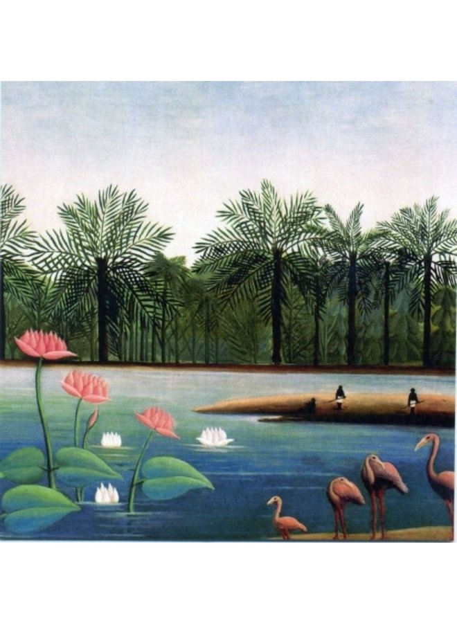 The Famingos by Rousseau 140x140mm card