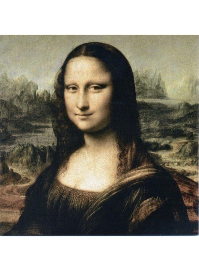 Mona Lisa by da Vinci 140x140mm card