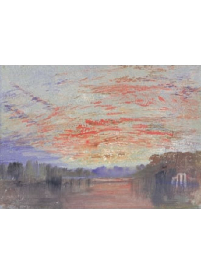Sunset Over the Lake, Petworth by Turner 140 x 180mm card