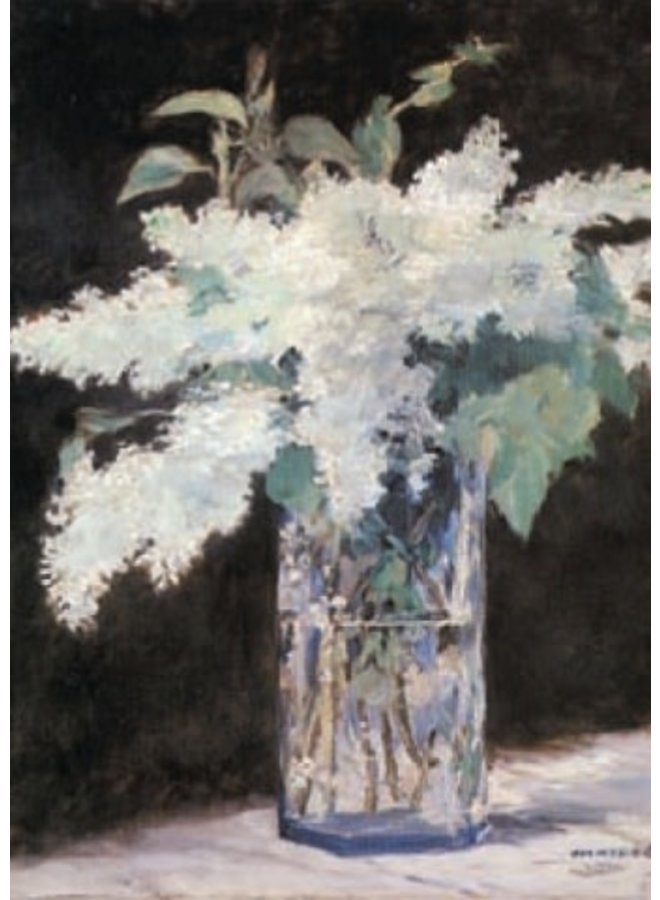 White Lilac by Manet 140 x 180mm card