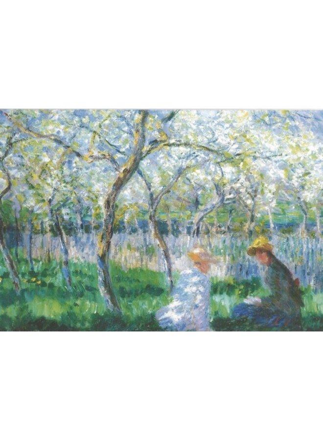 Springtime by Monet  140 x 180mm card