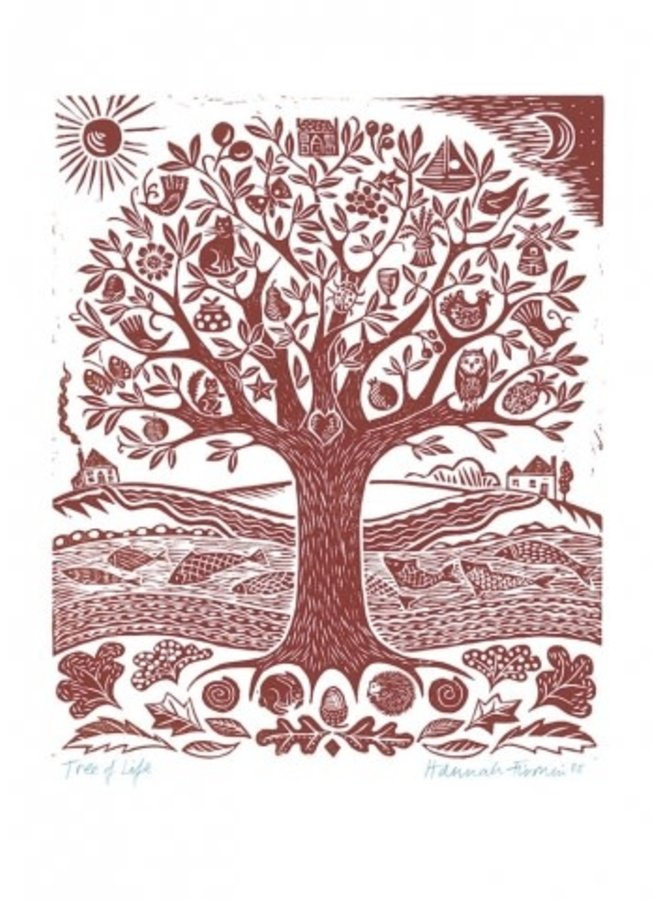 Tree of Life by Hannah Firmin  140 x 180mm card