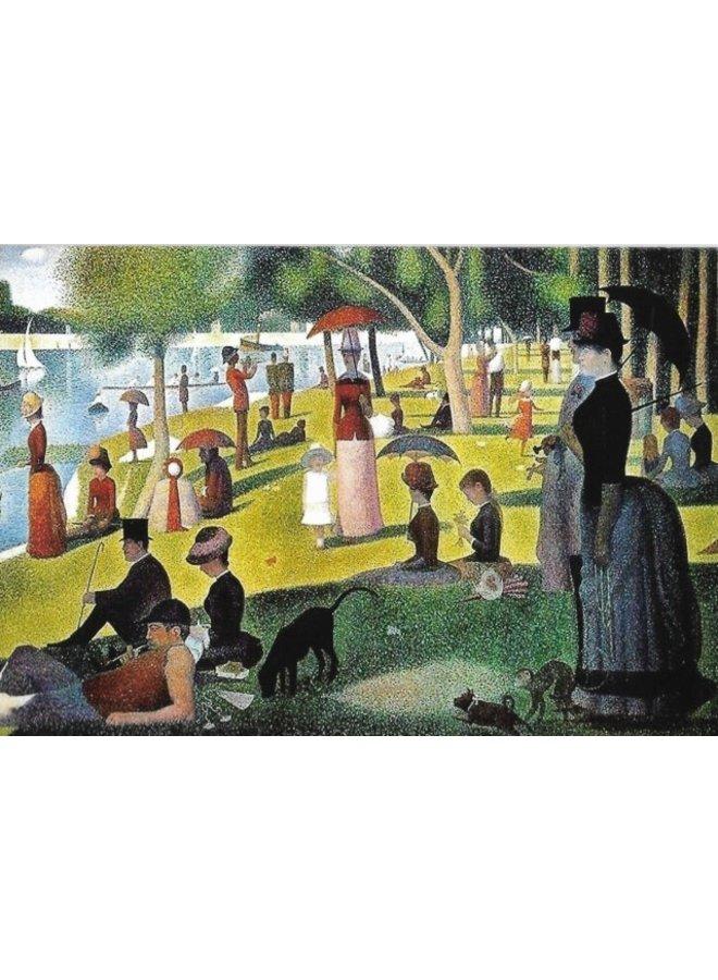 La Grande Jatte by Seurat 140 x 180mm card