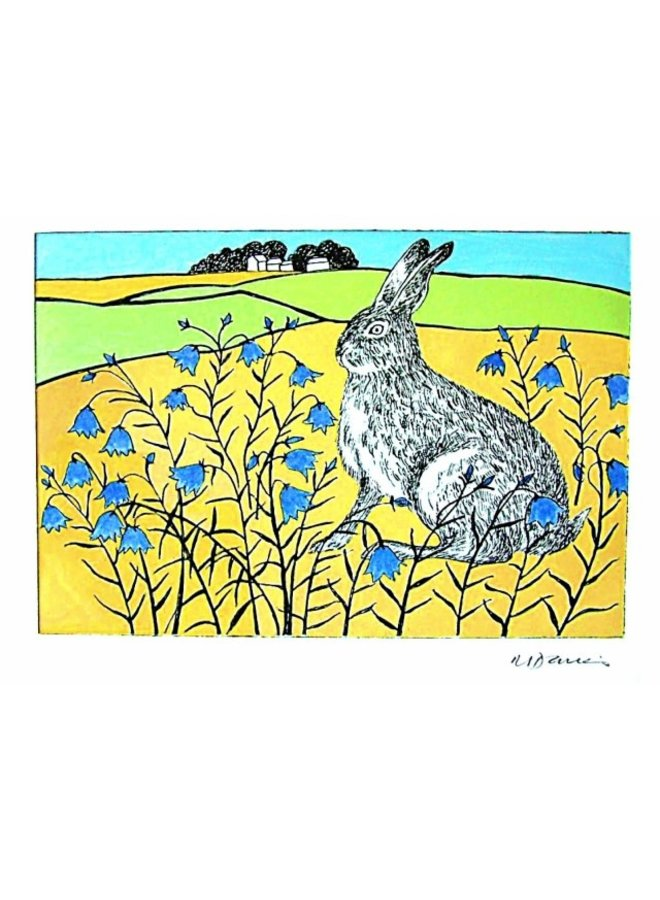 Summer Hare by Malcolm Davies 140 x 180mm card