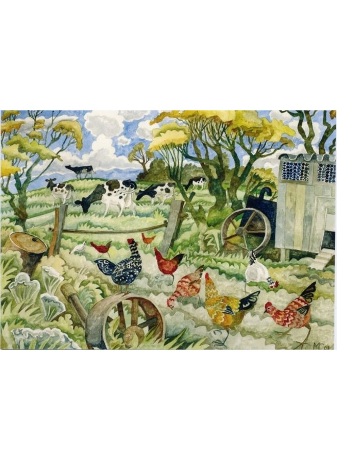 Hens & Cows  by Michael Coulter 140 x 180mm card