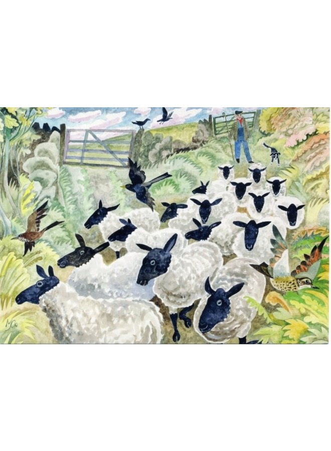 Sheep in the Lane  by Michael Coulter 140 x 180mm card