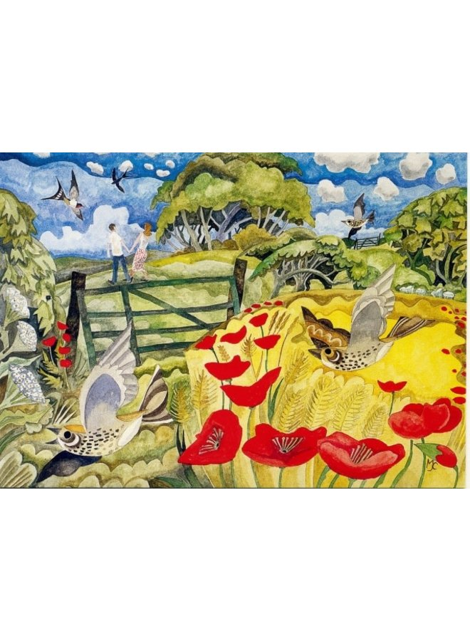 Summer Country  by Michael Coulter 140 x 180mm card
