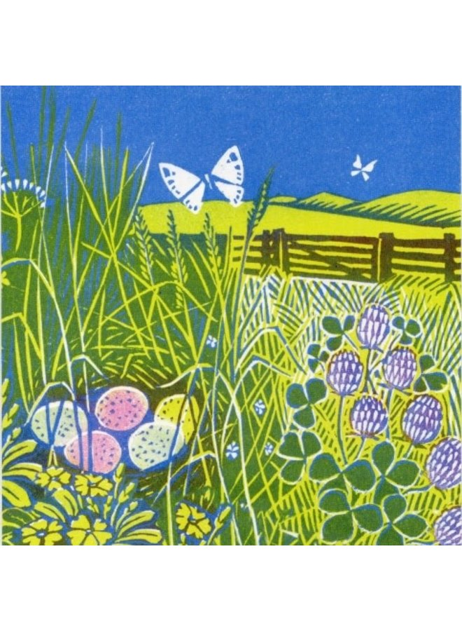 In Clover  by Clare Melinsky 140 x 140mm card