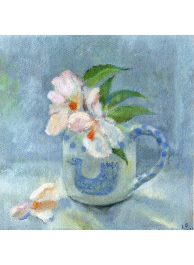 Camellia 'Cornish Snow' by Lindsay Bartholomew 140 x 140mm card