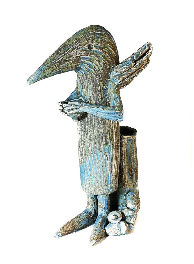Hausmeister Vogel groß - Beaty mit Eicheln