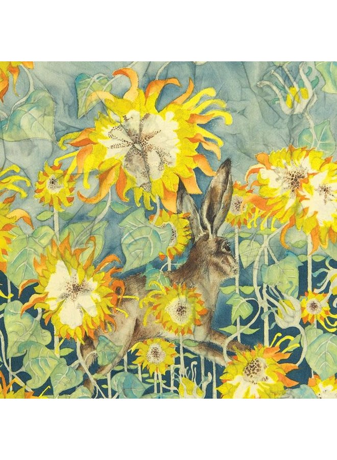 Sunflowers and Hare square card 27