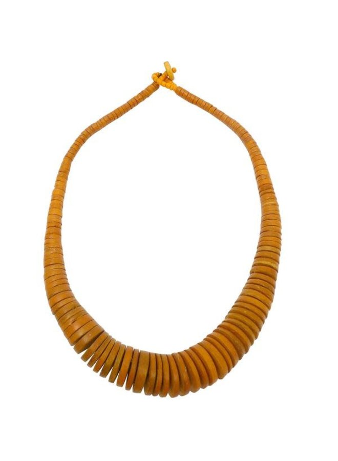 Senf Graduierte Coco Disc Halskette 059