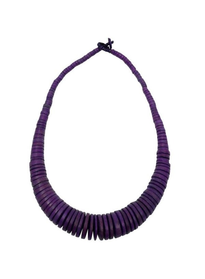 Lila Graduierte Coco Disc Halskette 083