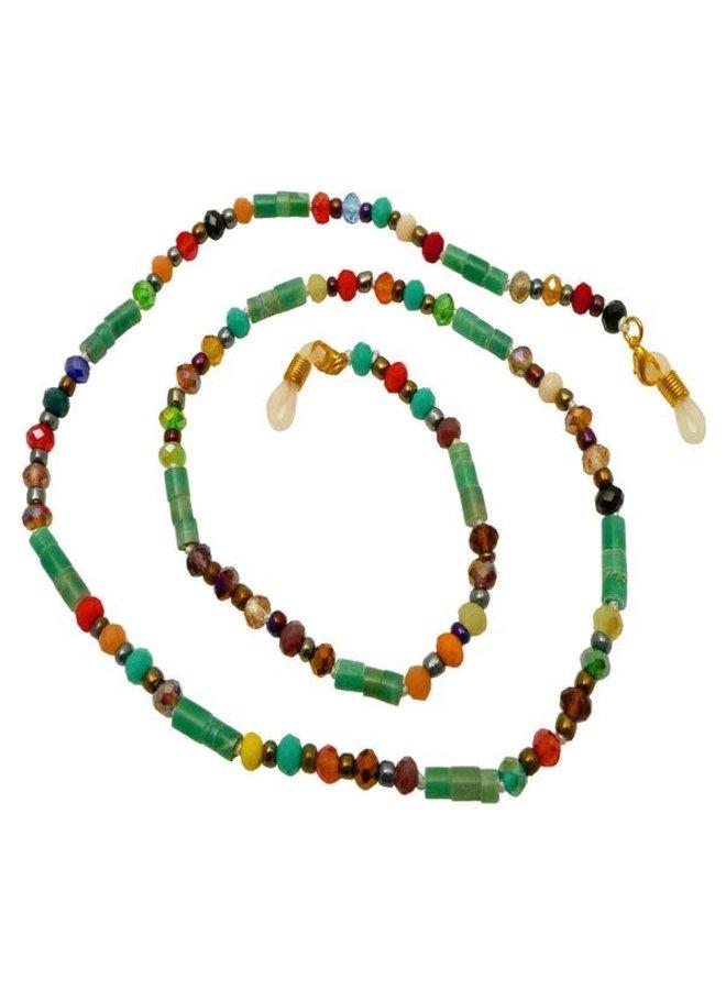 Regenbogen und grüne Brille und Maskenhalter Nexklace 87