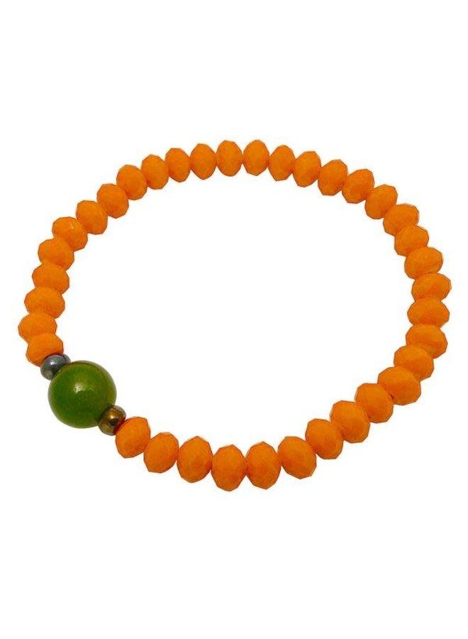 Orange und grünes Kristallarmband 99
