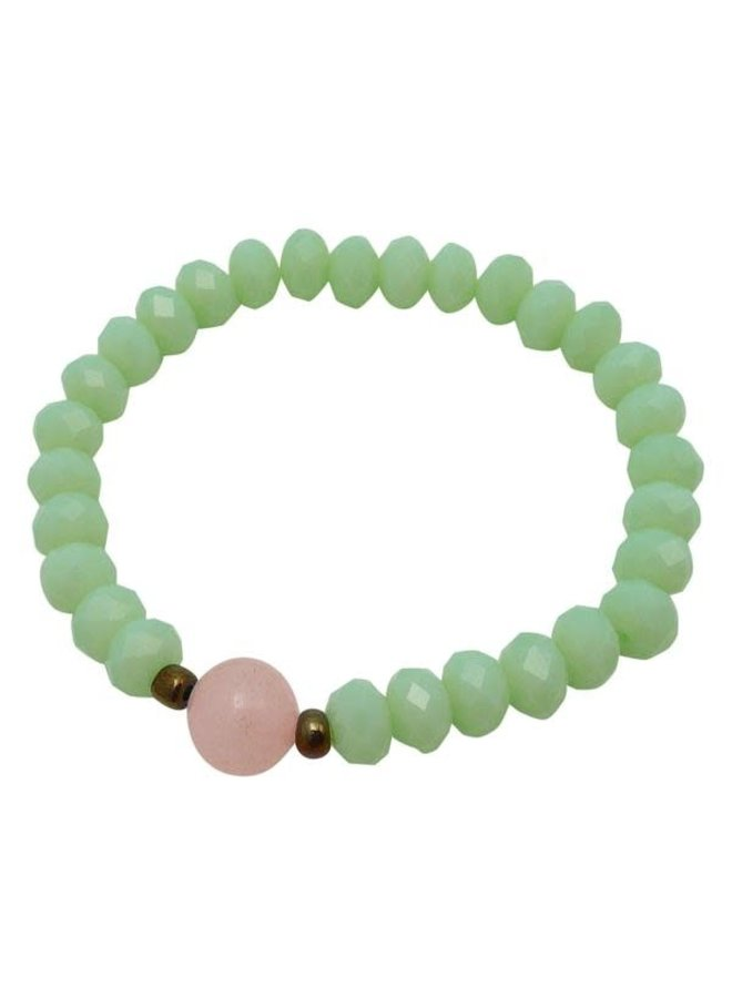 Mint und Pink Kristall Armband 100