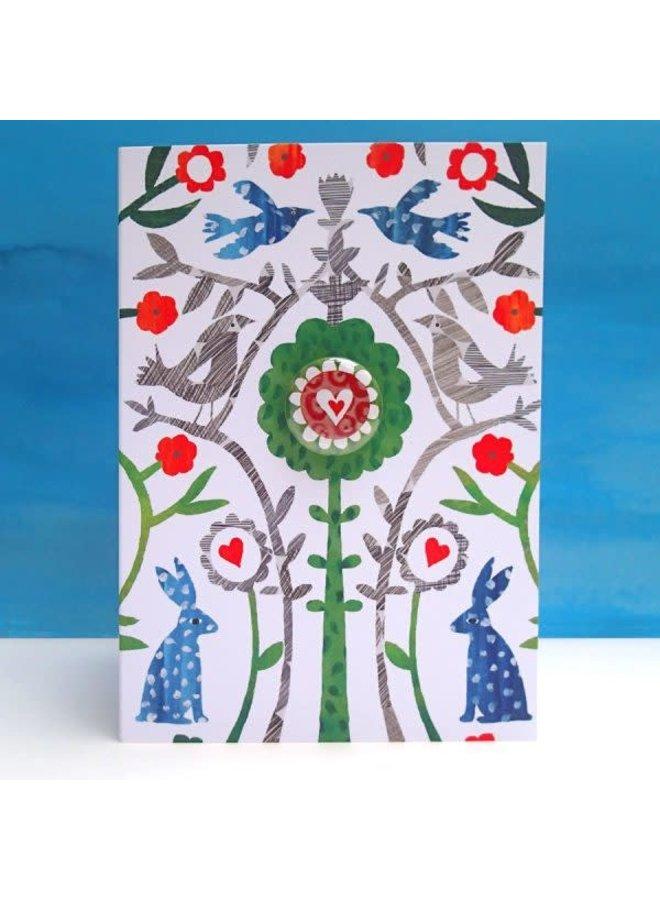 Heart and Tree  Badge  Card  68