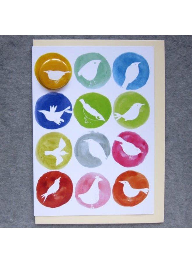 Birds in Colour  Badge  Card  70