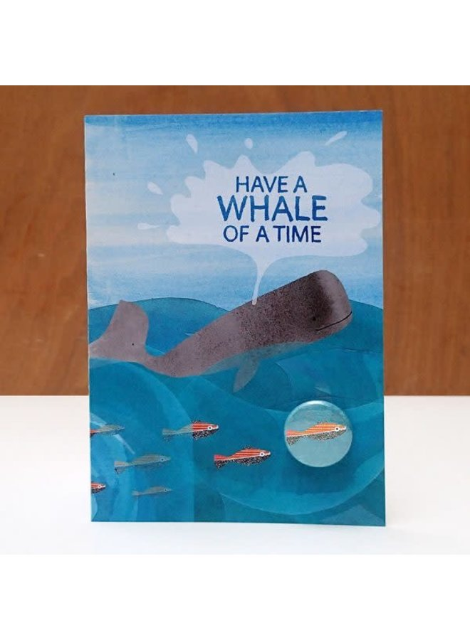 Whale Time Badge  Card  73
