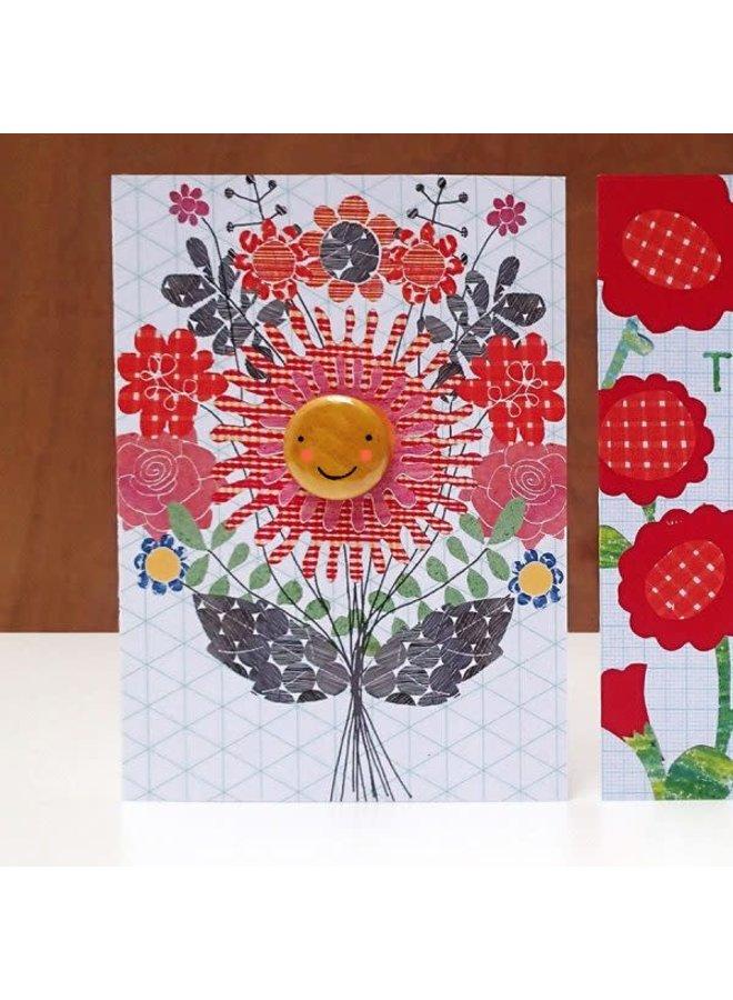 Flower Lady Badge  Card  73
