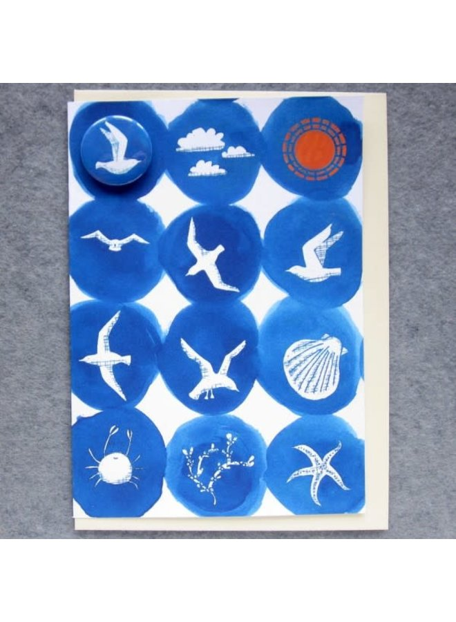 Seaside Badge  Card  75