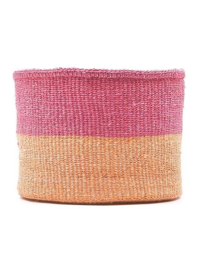 Keti Sand und Dusty Pink Sisal kleiner Korb 37