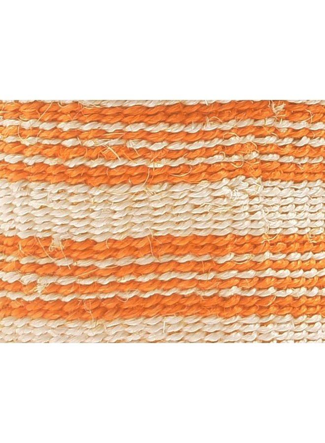 Sifa Orange Stripe  Sisal Small  basket 45