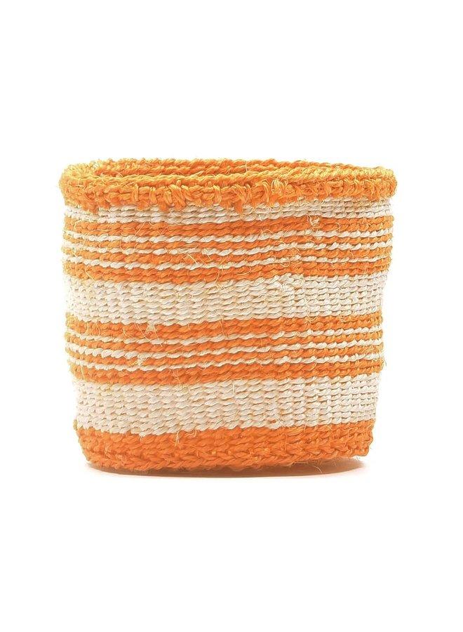 Sifa Orange Stripe  Sisal Medium  basket 46
