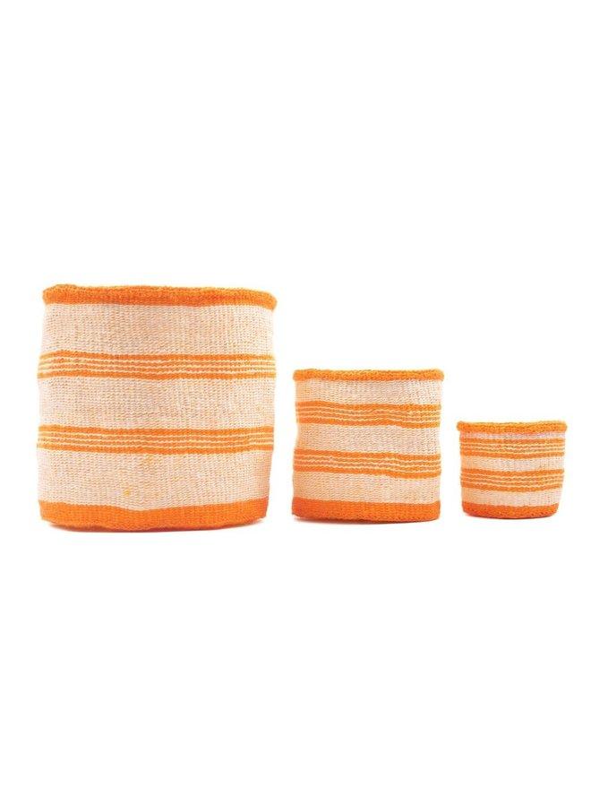 Sifa Orange Stripe Sisal Großer Korb 47