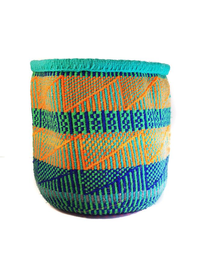 Korb aus kenianischer Wolle und Sisal von Wayua Hiwoeo 58