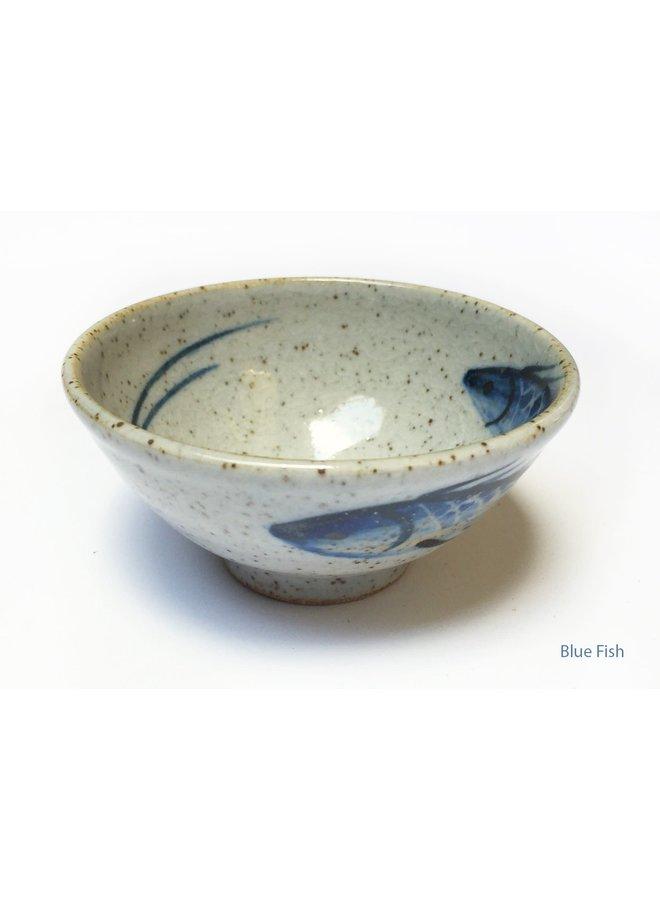 Olivenschale Blauer Fisch 9cm Mini 24