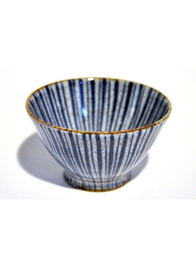 Olive Schale Blau Nadelstreifen 9cm Mini 21