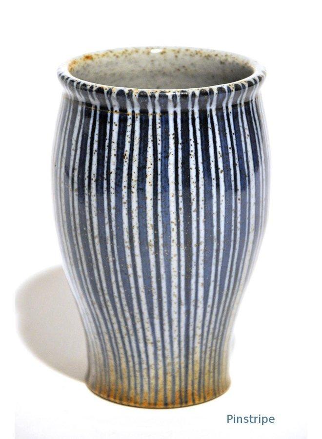Blaue Nadelstreifen-Posy-Vase 10cm 34