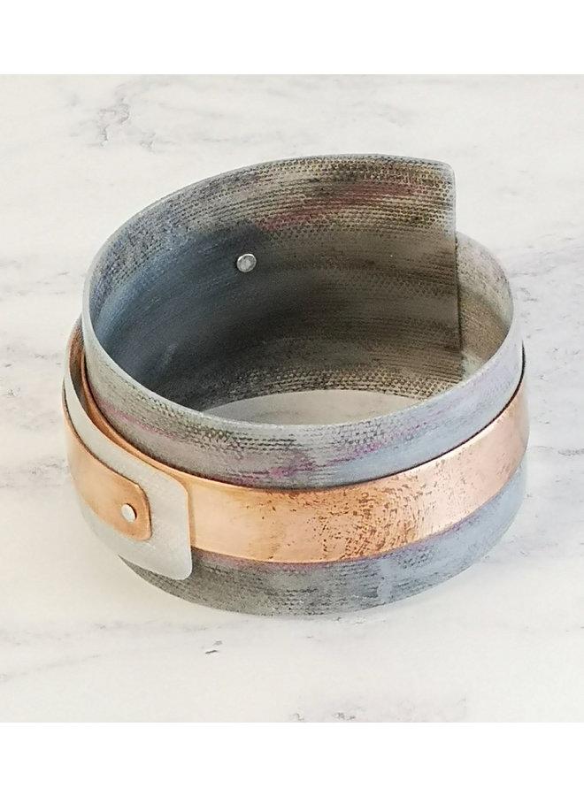 Grays verstellbarer Armreif recycelt - Kupfer und Kunststoff97