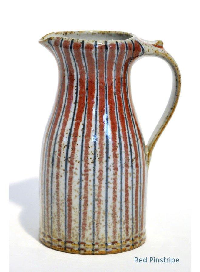 Red Pinstripe medium Milk Jug 31