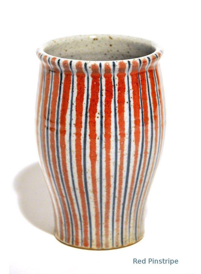 Red Pinstripe Posy Vase  10cm  35