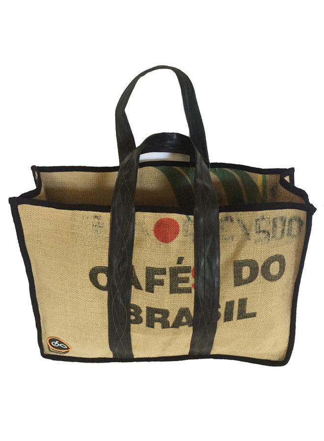 Recylced Coffee Sack & Inner Tube Shopper