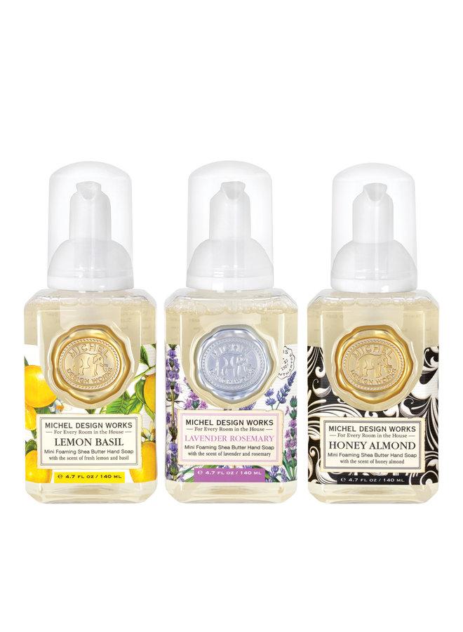 Mini 3 Foam Soap Set Lemon Basil, Lavender Rosemary, Honey Almond