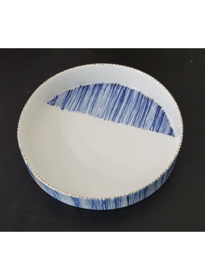 Flacher Teller mit Streifen Medium 11