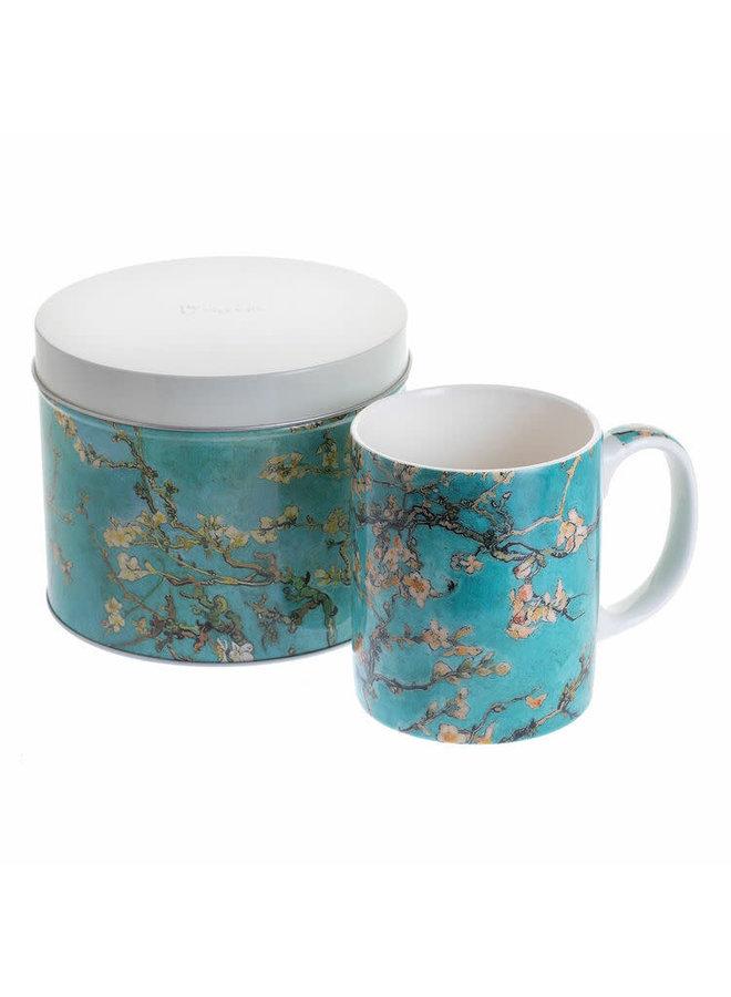 Mandelblüte Van Gogh Becher und Geschenkdose 248