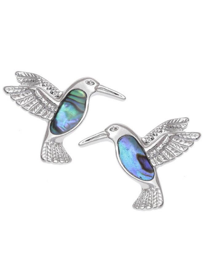 Kolibri Paua Muschel Ohrstecker E009