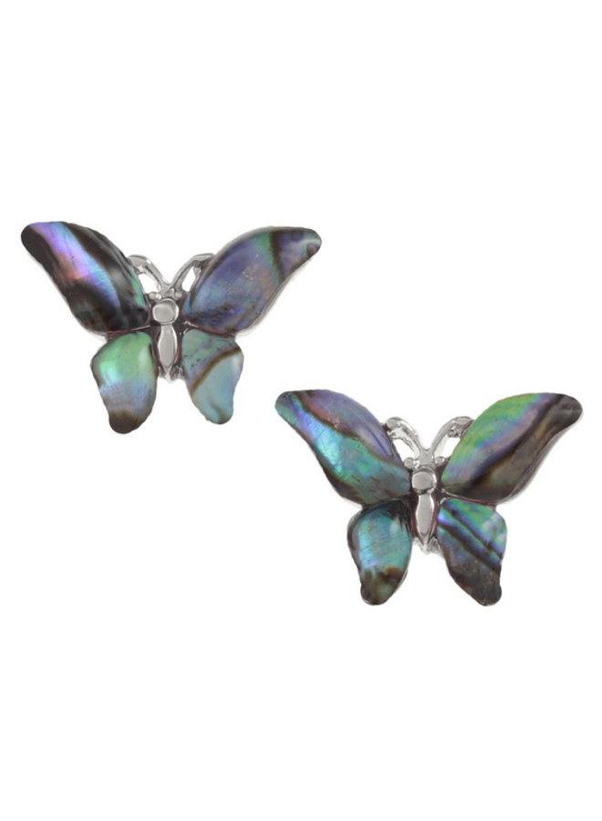 Schmetterling Paua Muschel Ohrstecker E010