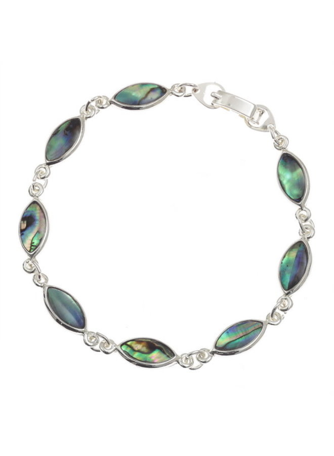 Paua-Muschelarmband mit ovalem Schnitt