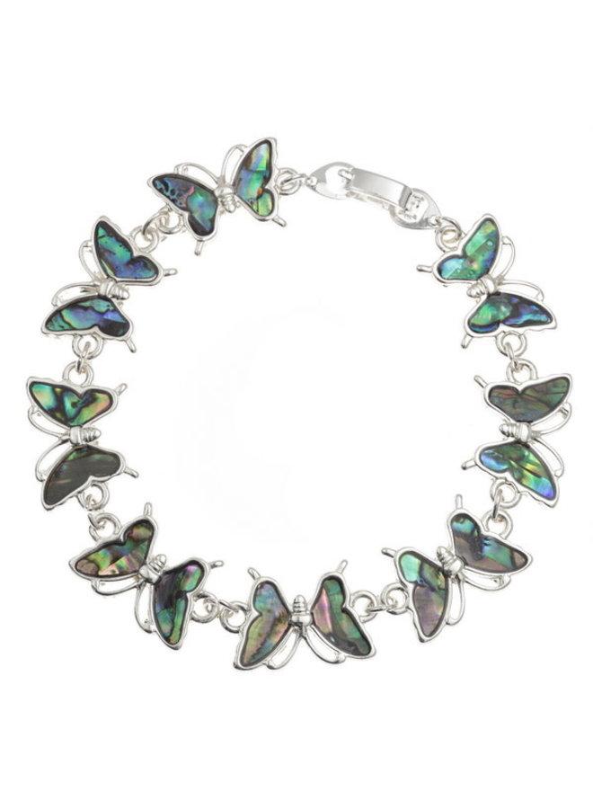 Paua Muschelarmband mit Schmetterlingsschnitt
