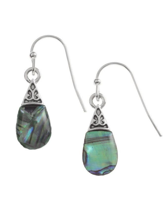Pear DropInlaid Paua shell  Drop Earrings T217