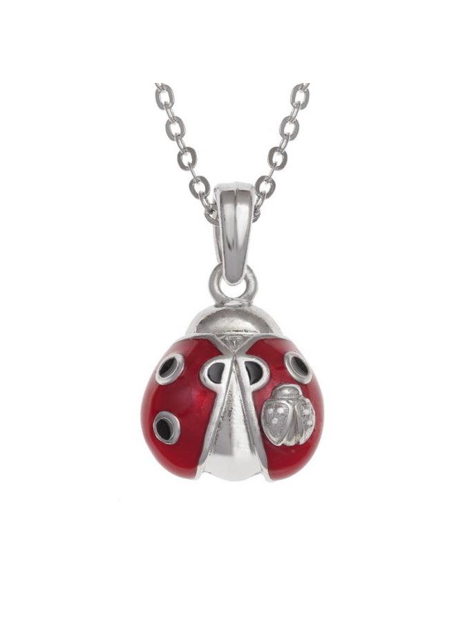 Marienkäfer-Emaille-bemalte Halskette